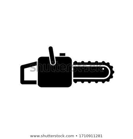 ícone cadeia serra fino linha projeto Foto stock © angelp