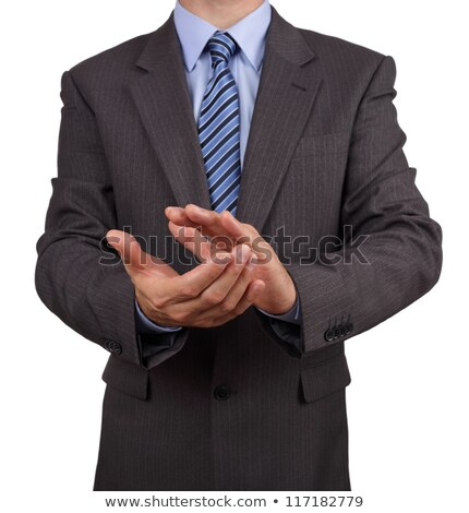 white man in business suit rubbing his hands Stock photo © feedough