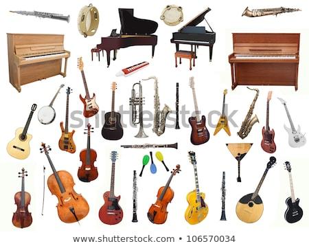 Diverso strumenti musicali bianco illustrazione musica chitarra Foto d'archivio © colematt