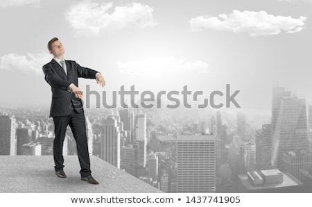 Sleepy businessman on the top of the city Stock photo © ra2studio