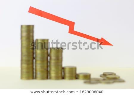 seta · ilustração · bar · financiar · mercado · traçar - foto stock © Blue_daemon