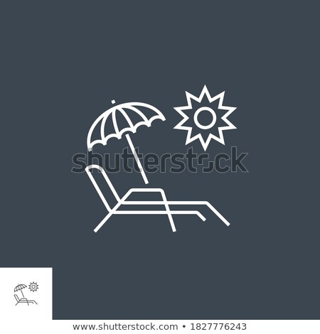 Chaise Lounge Related Vector Line Icon. Stock photo © smoki
