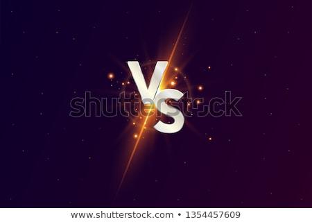 Neon Versus Logo. VS Vector Letters Illustration. Competition Icon. Fight Symbol. Digital effect of  Stock photo © olehsvetiukha