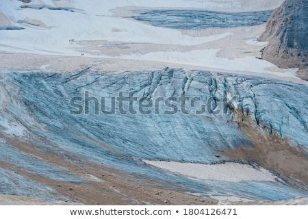 Gletsjer daglicht wolken zon berg ijs Stockfoto © frimufilms