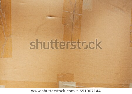 Card board box sealed with transparent packing tape Stock photo © boggy