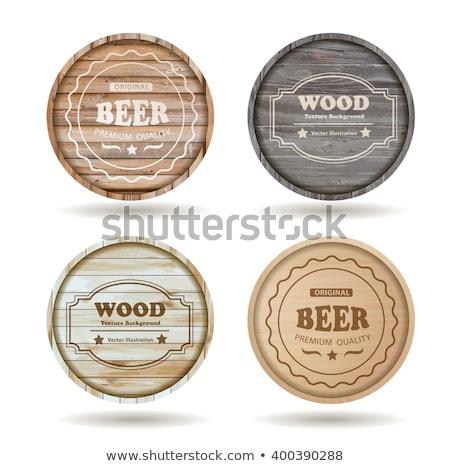 Brązowy baryłkę alkoholu zestaw wektora Zdjęcia stock © pikepicture