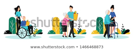 Elderly care concept vector illustration Stock photo © RAStudio