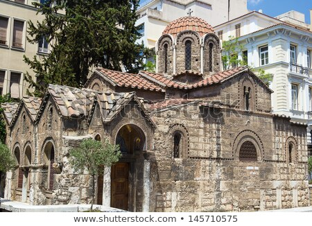 Kerk Athene Grieks orthodox een kerken Stockfoto © borisb17