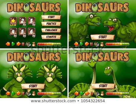 Játék sablon dinoszaurusz természet háttér művészet Stock fotó © colematt