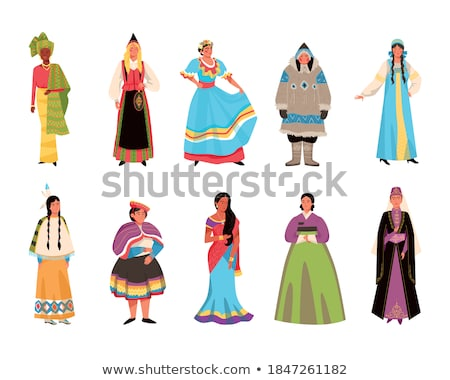 Vector set of eskimo characters pattern Stock photo © netkov1