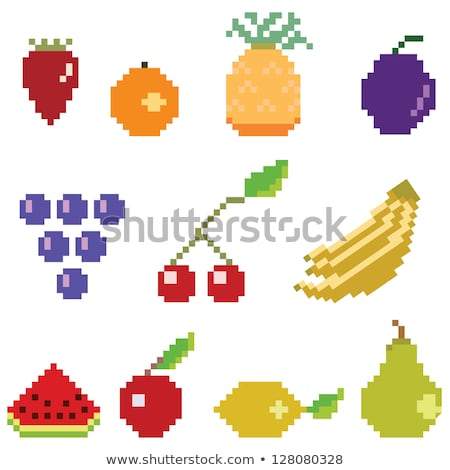 Poire pixel art bit jeu vidéo fruits Photo stock © Krisdog