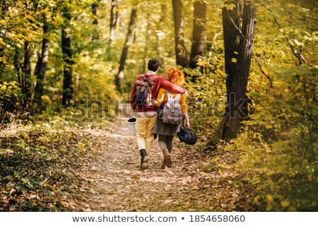 Couple Enjoying Picnic Outdoors In Autumn Woodland Stock photo © monkey_business