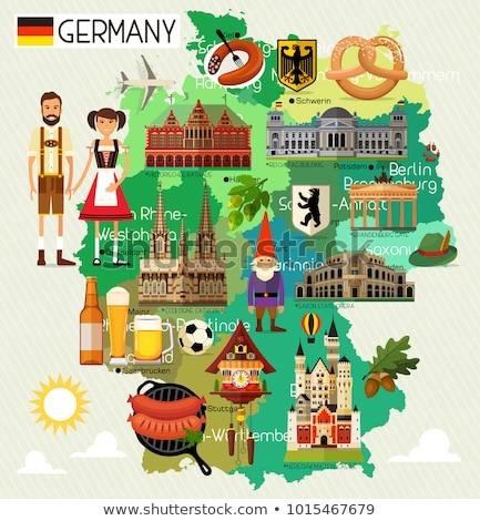 Германия путешествия набор традиционный продовольствие Сток-фото © netkov1