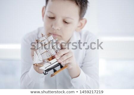 adolescente · automne · portrait · belle · parc · enfants - photo stock © monkey_business