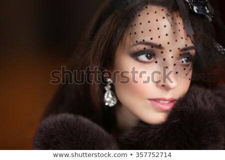 Eleganza primo piano femminile occhi classico buio Foto d'archivio © serdechny