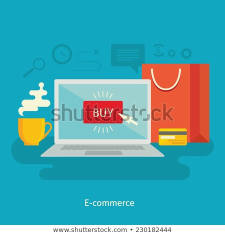 Pay Per Click Online Order Web Computer Vector Stock photo © robuart