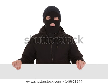 Penale indossare maschera isolato bianco uomo Foto d'archivio © Elnur
