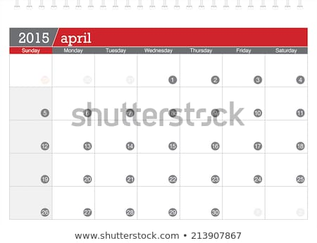 2015 Calendar. April Stock photo © montego