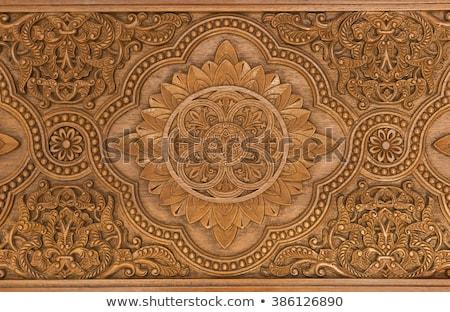 詳細 木材 オリエンタル 芸術的 装飾的な ストックフォト © galitskaya