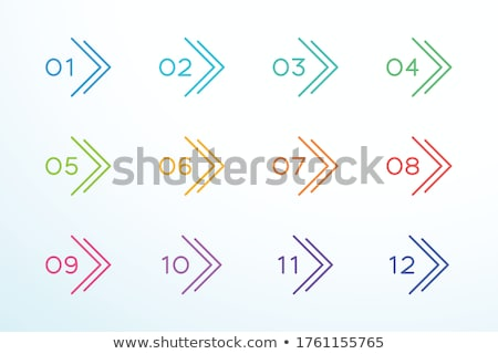 modern bullet point numbers from one to twelve Stock photo © SArts