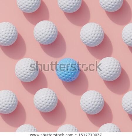 Macro tiro golfball luz sombra escuro Foto stock © lichtmeister