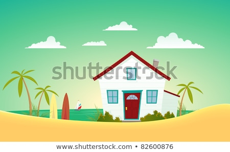beach houses behind dunes stock photo © jsnover