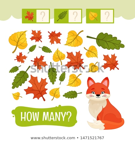 Wiskunde onderwijs taak dieren cartoon illustratie Stockfoto © izakowski