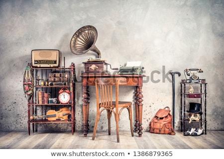 Retro wooden telephone Stock photo © nomadsoul1