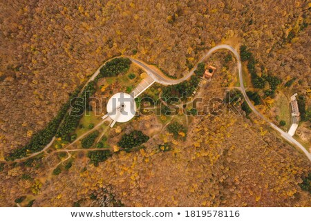 Aerial view at monument Freedom on Fruska Gora mountain, near No Stock photo © boggy