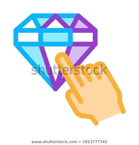 Premia diament ikona wektora ilustracja Zdjęcia stock © pikepicture