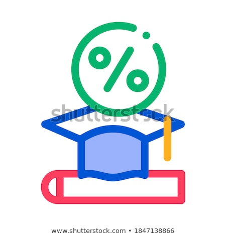 Lend Money To Pay For Tuition Icon Vector Outline Illustration Stock photo © pikepicture