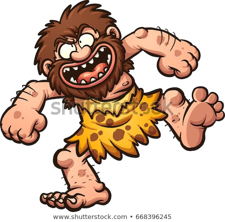 Cartoon happy caveman Stock photo © tigatelu