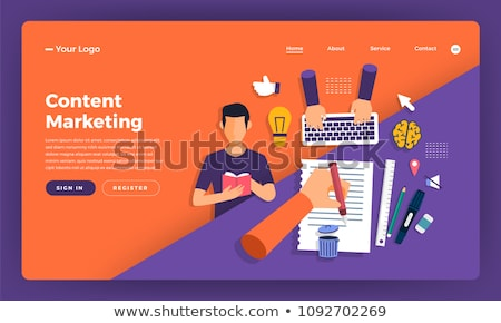 Promotional mix concept landing page Stock photo © RAStudio