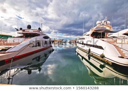 Colorful harbor of Saint Tropez at Cote d Azur view Stock photo © xbrchx
