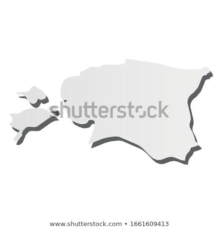 Észtország vidék térkép egyszerű fekete sziluett Stock fotó © evgeny89