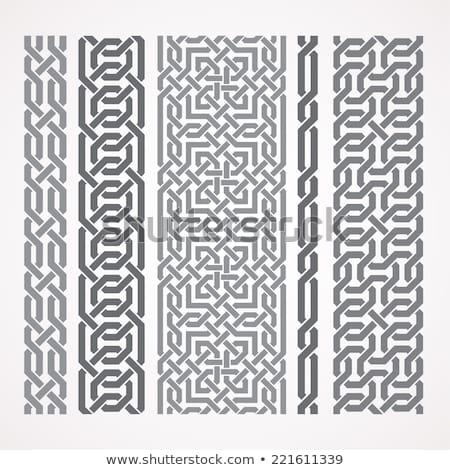 ベクトル シームレス チェーン パターン 幾何学的な ストックフォト © samolevsky