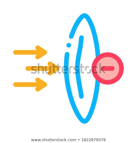 worsening lens wear icon vector outline illustration Stock photo © pikepicture