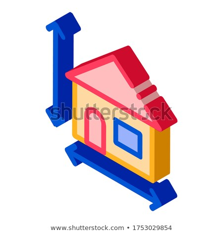 House Size Height And Width isometric icon vector illustration Stock photo © pikepicture