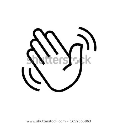 cursor · welkom · witte · hand · groene - stockfoto © cla78