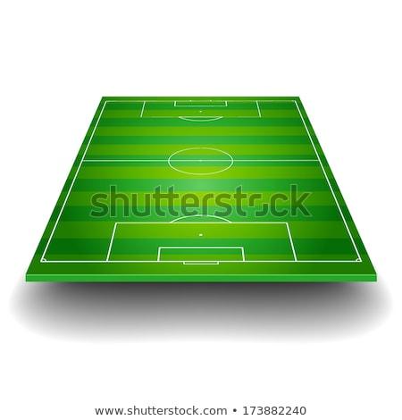 fútbol · formación · táctica · vector · negro · formación - foto stock © lizard
