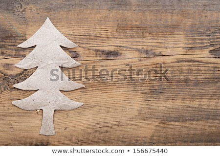 árbol · de · navidad · papel · rasgado · madera · vieja · espacio · fondo · marco - foto stock © inxti