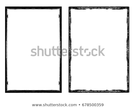 Stockfoto: Zwarte · grens · grunge · effect · abstract · frame