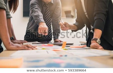 Iş plan kişi gelişen eller işadamı Stok fotoğraf © silent47