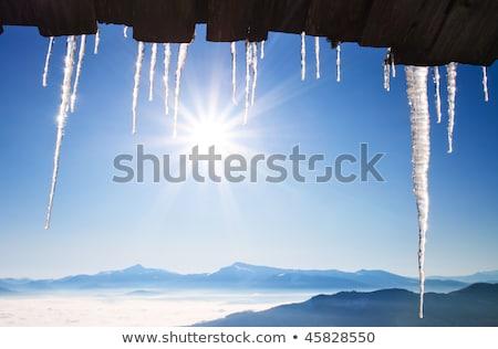 icicle and blue sky Stock photo © yoshiyayo