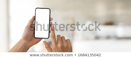 Abstract shot of man touching screen Stock photo © photography33
