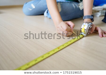female worker with a tape measure stock photo © photography33