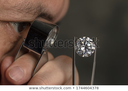 Colorful Gems And Loupe Stock photo © Kacpura