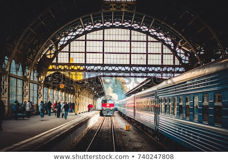 old train and train station Stock photo © sweetcrisis
