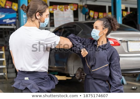Worker greeting apprentice Stock photo © photography33