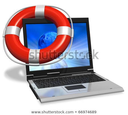 lifesaver for laptop Stock photo © gladiolus